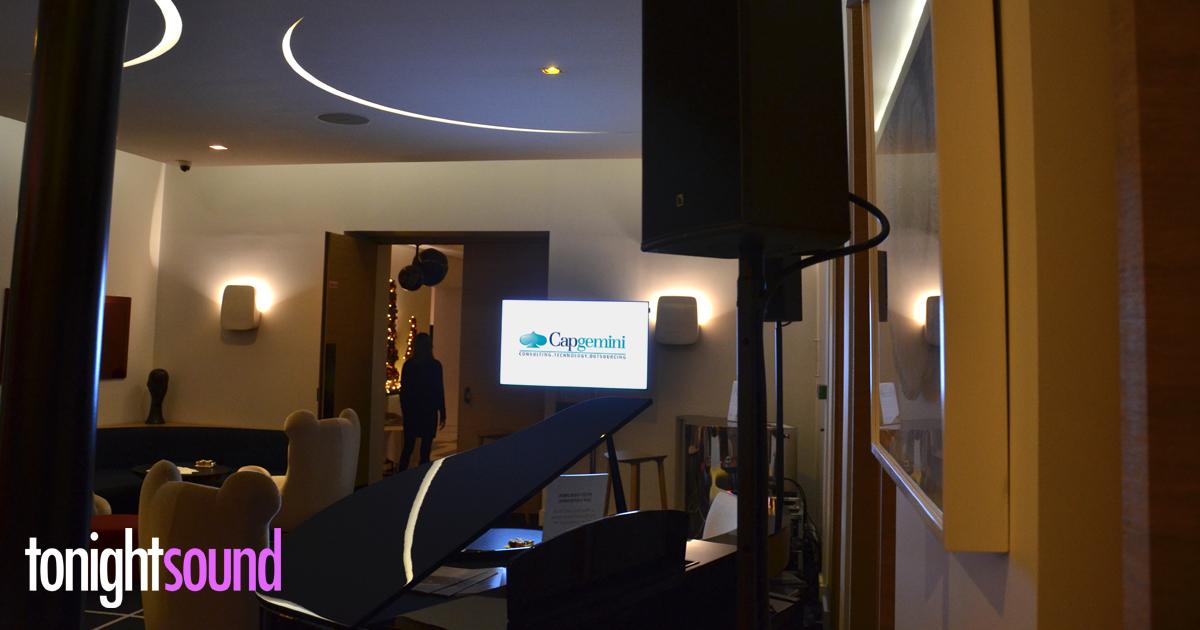 Sonorisation petit déjeuner présentation vidéo à l'hotel Marignan Champs-Elysées