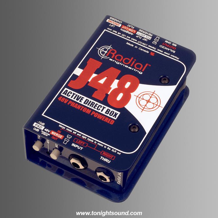 Location RADIAL J48 location DI active professionnelle Radial pour live et sonorisation instrument