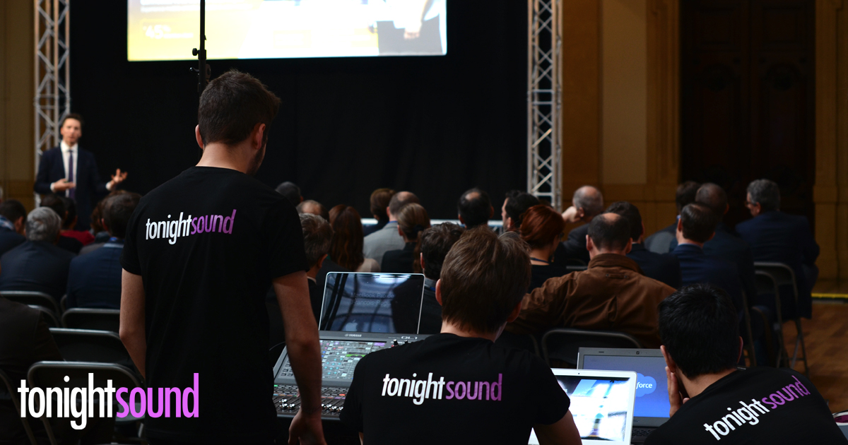 Salesforce Excellence Lyon 2016 par Tonightsound sonorisation, vidéo et éclairage séminaire