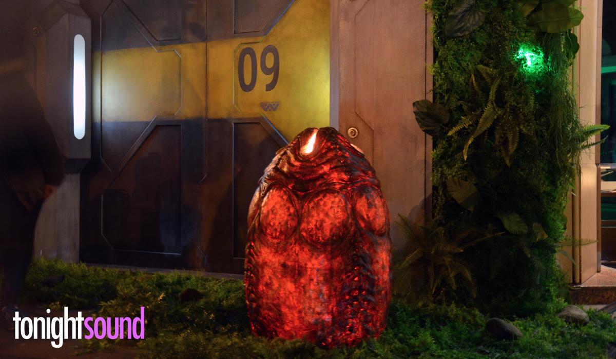Avant Première Alien Covenant au Grand Rex par Tonightsound eclairage végétation exterieure