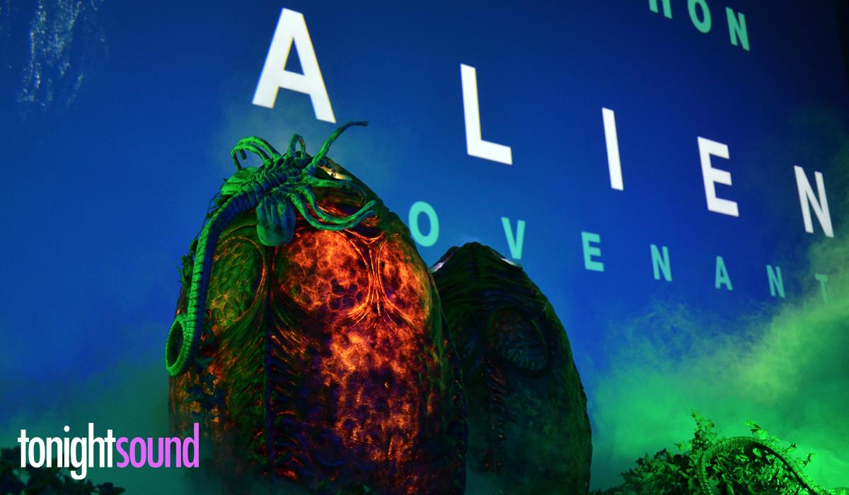Avant Première Alien Covenant au Grand Rex par Tonightsound éclairage des oeufs et brouillard lourd
