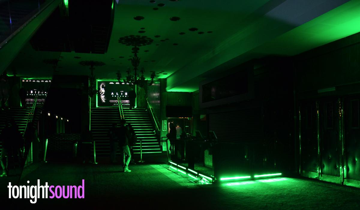 Avant Première Alien Covenant au Grand Rex par Tonightsound éclairage vert à LED pour l'ensemble du cinéma