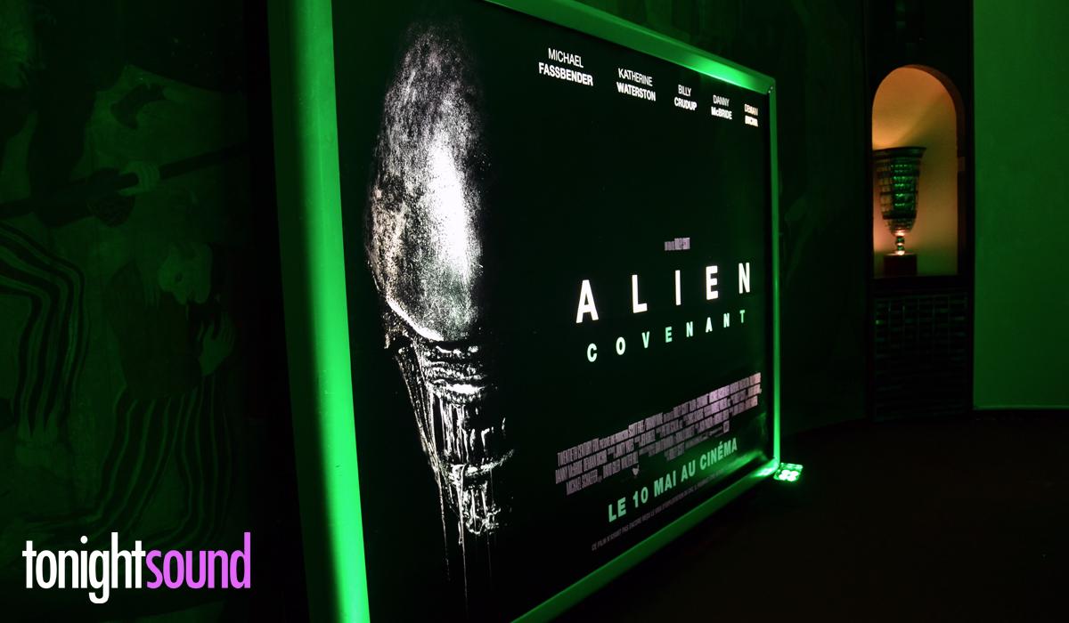 Avant Première Alien Covenant par Tonightsound Well Fit lumière sur batterie autonome pour les escaliers du Grand Rex