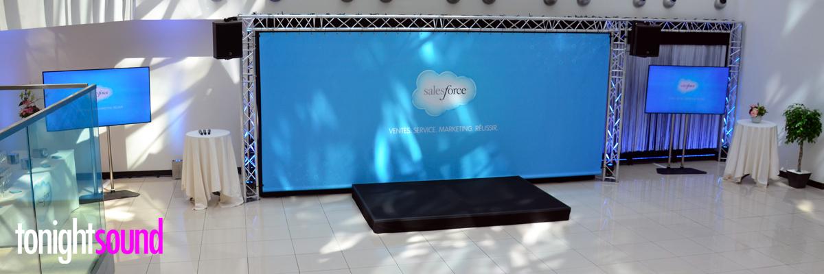 Eclairage et sonorisation inauguration siège Salesforce France à Paris