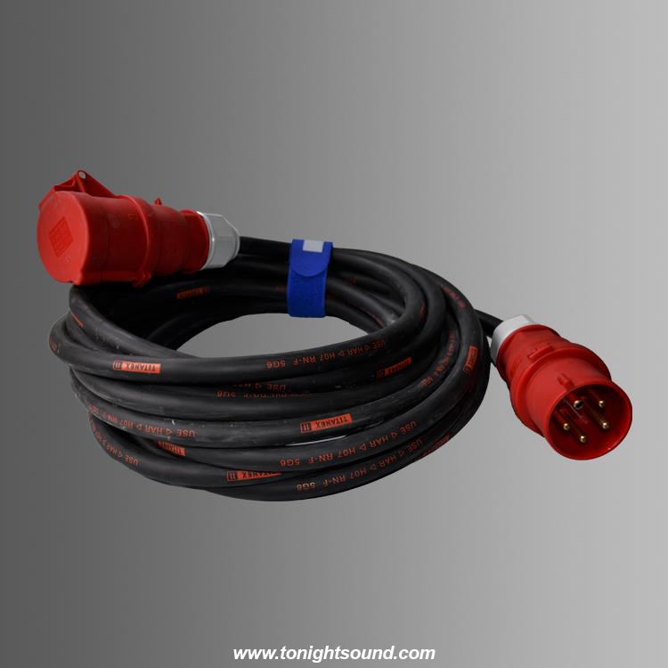 location prolongateur tétrapolaire 32A 7M pour coffret éléctrique