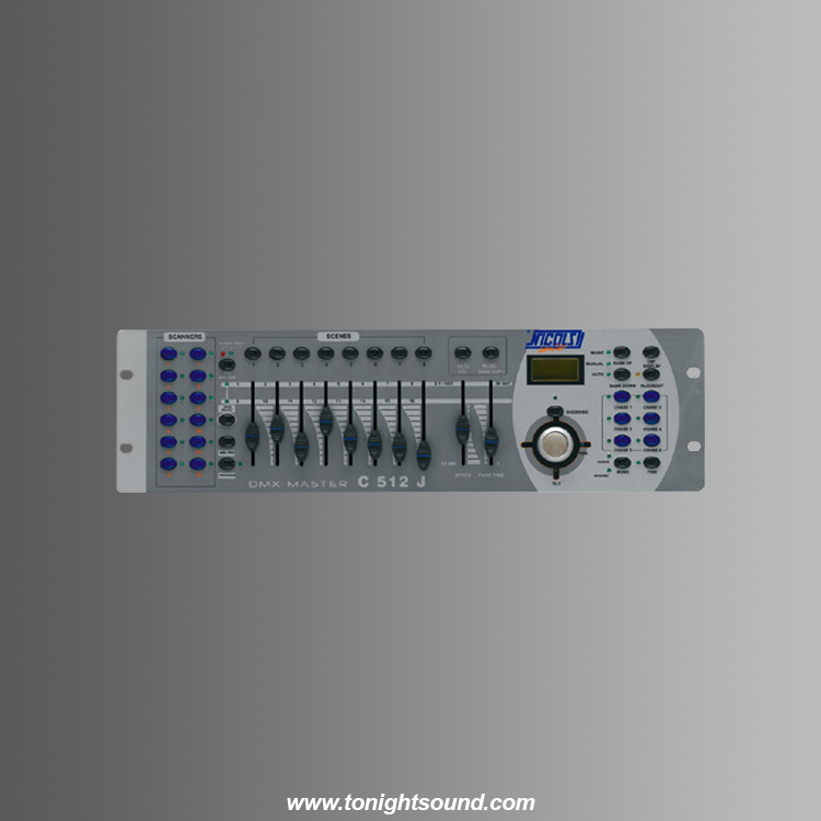 Location console DMX 12 asservis NICOLS