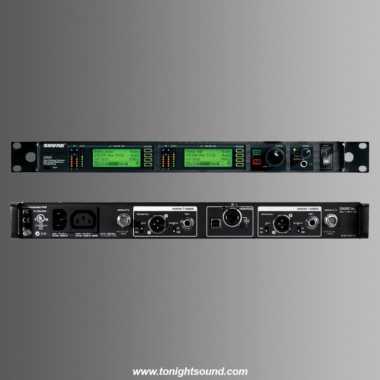 Location Shure UR4D+ double recepteur micros UHF-R shure