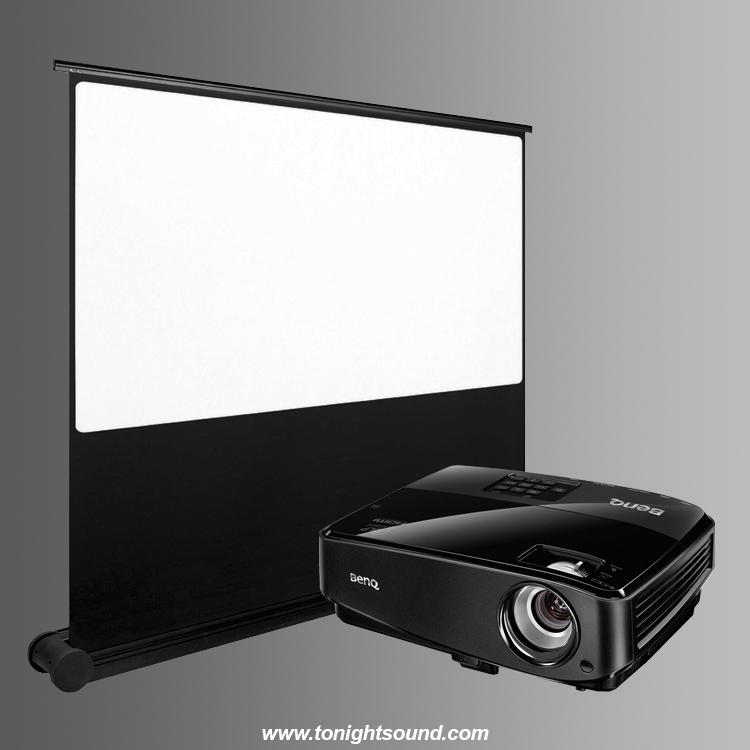 location vidéoprojecteur et écran en pack VP