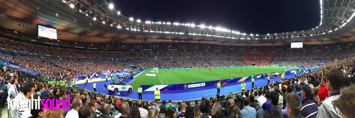 Praticable caméra au Stade de France pour le match France Belgique 7 juin 2015