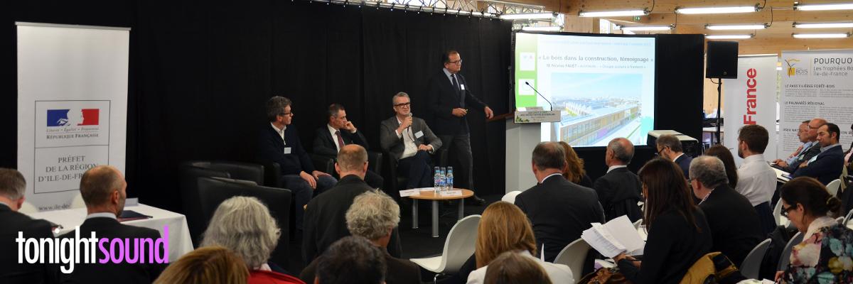 Sonorisation conférence de presse Charte Bois Construction Publique Exemplaire Paris