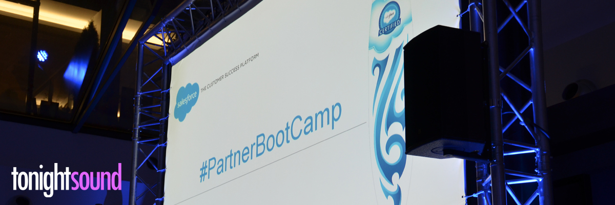 Sonorisation et vidéo séminaire de formation Salesforce Partner Bootcamp