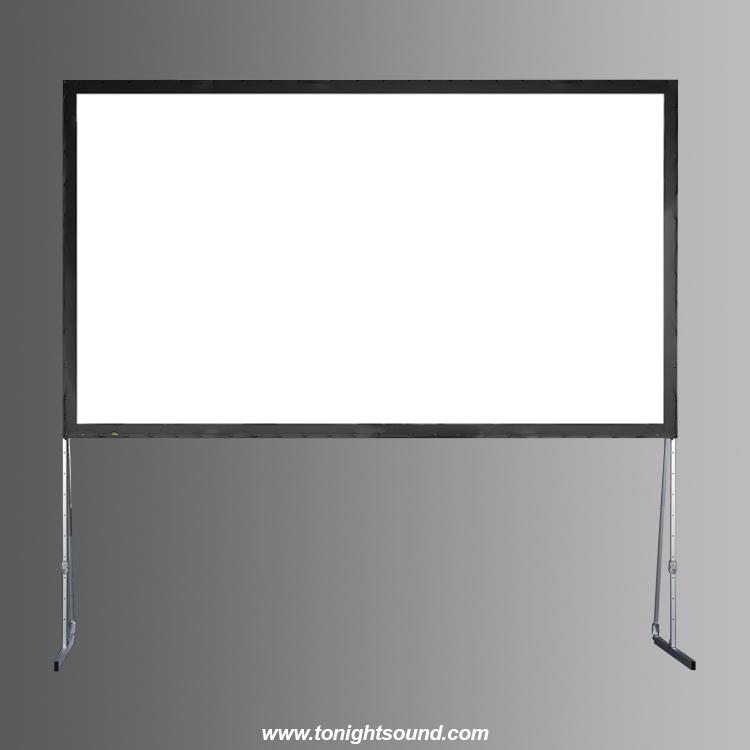 Location écran de projection face écran cadre 2,86 X 1,70 - 16:9