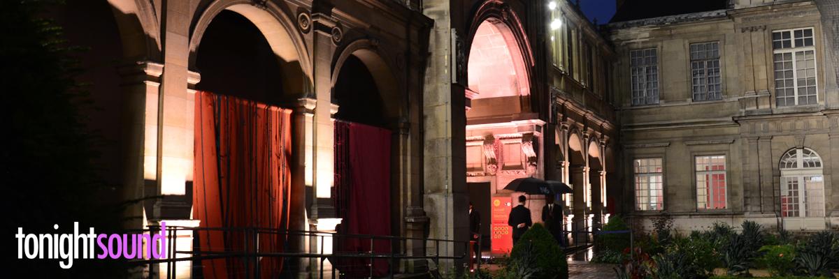Mise en lumière du Musée Carnavalet pour Chloé Fashion Week 2016 location eclairage architecturale