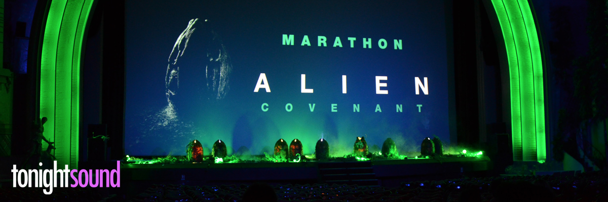 Eclairage et sonorisation du Grand Rex par Tonightsound pour l'avant premiere Alien Covenant