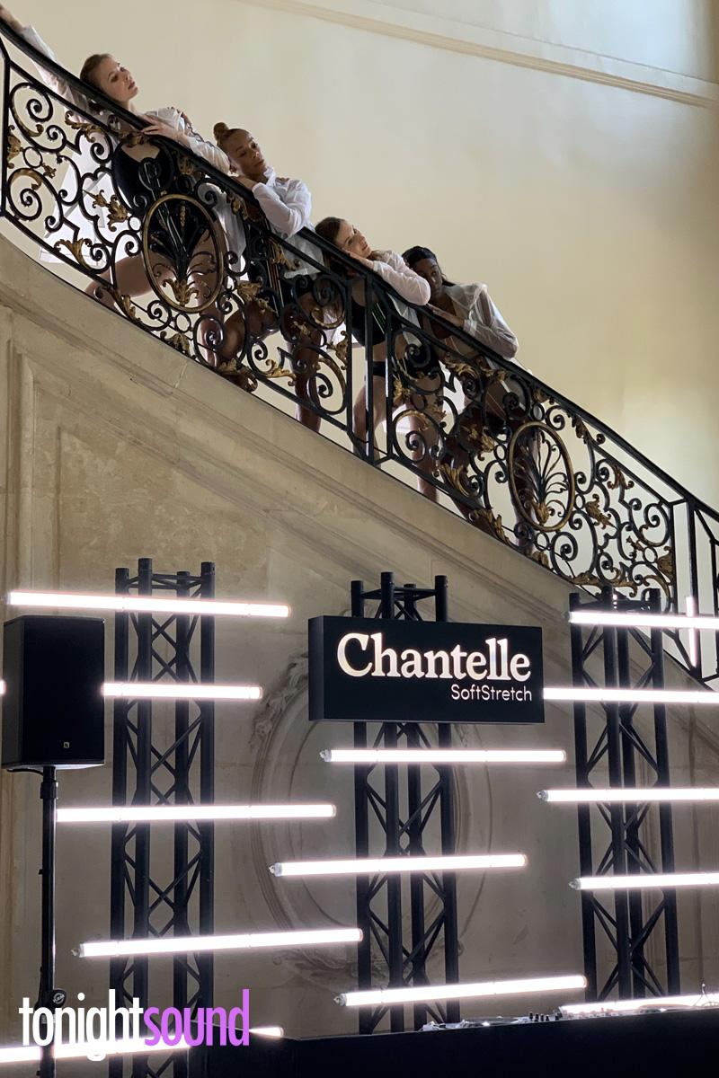 Néons LED soirée Chantelle SoftStretch au Musée Rodin à paris
