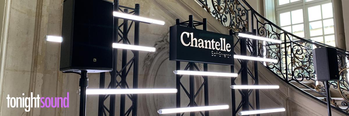 Néons LED pour la soirée Chantelle SoftStretch au Musée Rodin à Paris